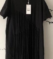ZARA crna pamučna haljina - s etiketom
