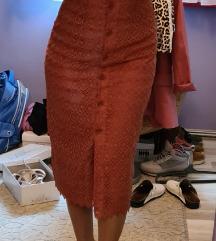 Mango S čipka haljina