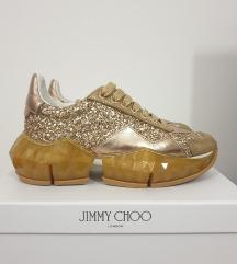 Jimmy Choo Diamond Glitter Sneakers Gold original