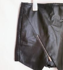 ⭐ZARA crne kožne suknja hlacice⭐
