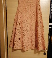Zara nova čipkana suknja