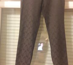 Crne hlače s uzorkom 38 Lea Bruni nove