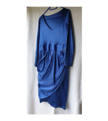 Yuniku kraljevsko plava haljina