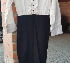 Poslovna haljina crno bijela