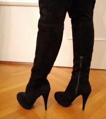 Crne overknee čizme