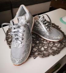 Silver glitter tenisice