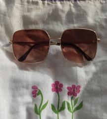 Smeđe velike sunčane naočale