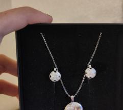 Novo Srebrne naušnice i ogrlica 925