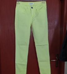 Fluorescentne pamučne žute hlače