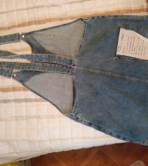 Jeans haljinica s tregerima