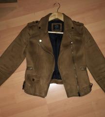 C&A brušena koža jakna