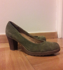 Zelene cipele brušena koža 5th Avenue
