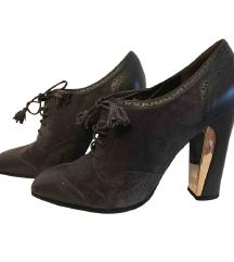 SALVATORE FERRAGAMO sive cipele od brušene kože