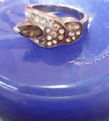 Prsten,VEĆI opseg, KIRUŠKI čelik+ cirkoni