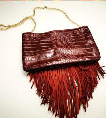 Zara kožna torba bordeux