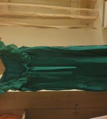 Zelena svilena haljina SVE -50% sada 40kn