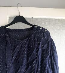 SNIZENJE %% Vintage tamnoplava polka dot bluza 💙✨