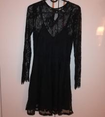 Haljina čipkasta crna