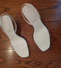 Zara vinyl strap sandale nove