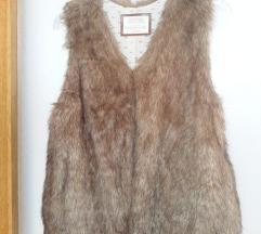 Zara prsluk krzno vl.11-12 godina 152 cm