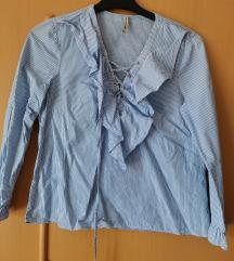 Bluza košulja plava na pruge