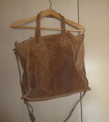 Zara torba od brušene kože