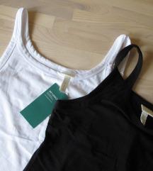 H&M 2x set basic majice bez rukava vel. M/L (38)