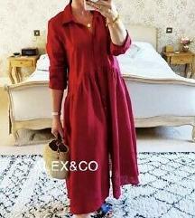 Zara nova lanena haljina