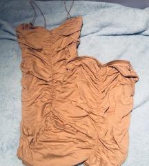 Asos uska duga puder nude haljina 40