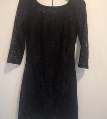 Diadema crna čipkasta haljina, veličina 34