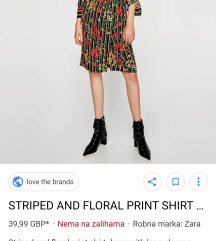 Zara nova haljina na preklop