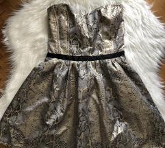 Zmijska metalik haljina