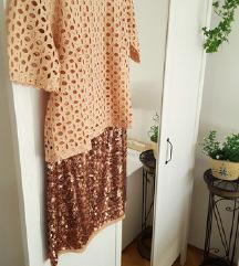 %%Lot sequin suknja i novi Reserved top