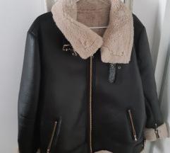 Zara aviator kožna jakna