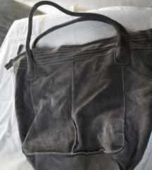 Kožna siva torba