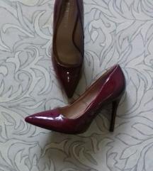 Bordo lakirane štikle/cipele 39