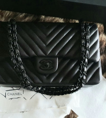 Chanel cf medium so black tasna