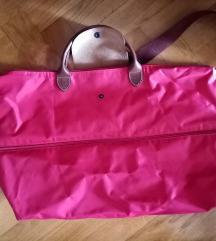 longchamp expandable crvena putna torba