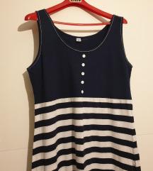 Duga mornarska haljina na pruge