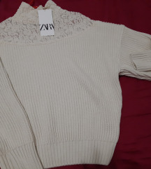 Zara pulover s cipkom