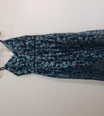 Midi haljina sa sljokicama