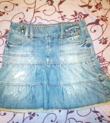 Jeans kaubojska suknja Terranova