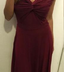 Bordo svečana haljina
