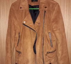 FISHBONE jakna brušena koža - M