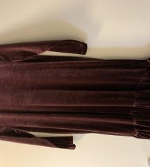 Stradivarus baršun haljina