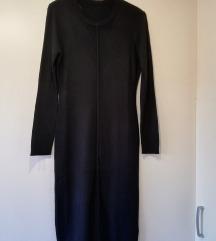 Crna dulja pletena haljina Mana
