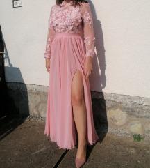 3D čipkasta haljina