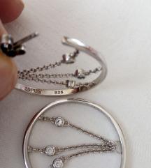 Nove srebrne naušnice  ESPRIT - SNIŽENE 50 %