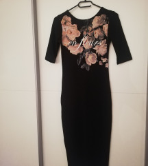 Crna midi haljina / sada 40kn!