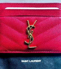Ysl Saint Laurent card holder original